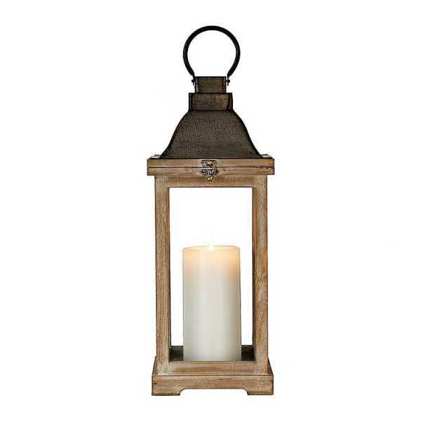 Candle Lanterns - Westin Brown Wood Lantern