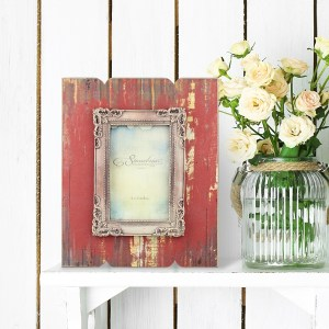 Picture Frames - Weathered Red Wood Picture Frame, 4x6