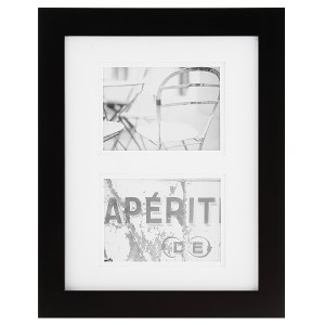 Picture Frames - Gallery Black Matted Picture Frame, 11x14