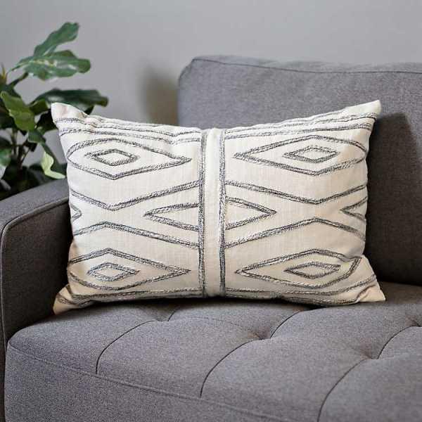 Throw Pillows - Camden Geometric Embroidered Pillow