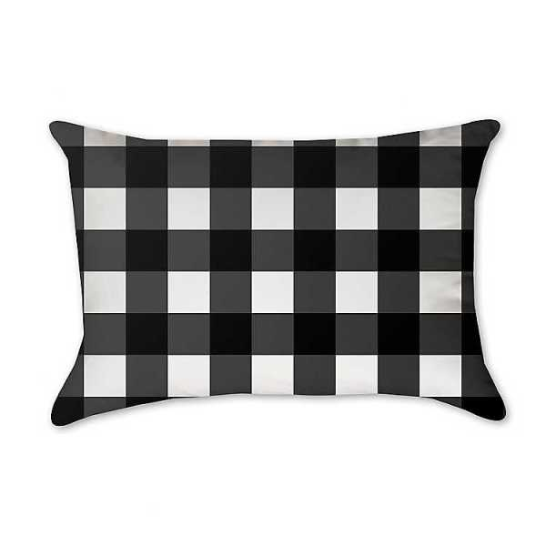 Throw Pillows - Black Buffalo Check Accent Pillow