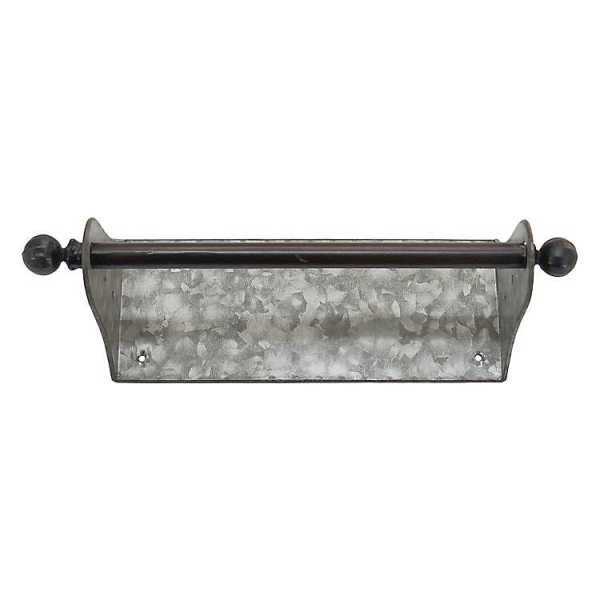 Kitchen Accessories - Galvanized Wall Mounted Paper Towel Holder
