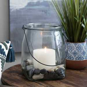 Candle Lanterns - Clear Glass Square Lantern