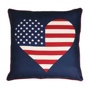 Throw Pillows - American Flag Heart Reversible Pillow