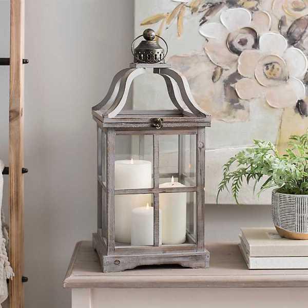 Candle Lanterns - Gray Jenny Open Top Lantern