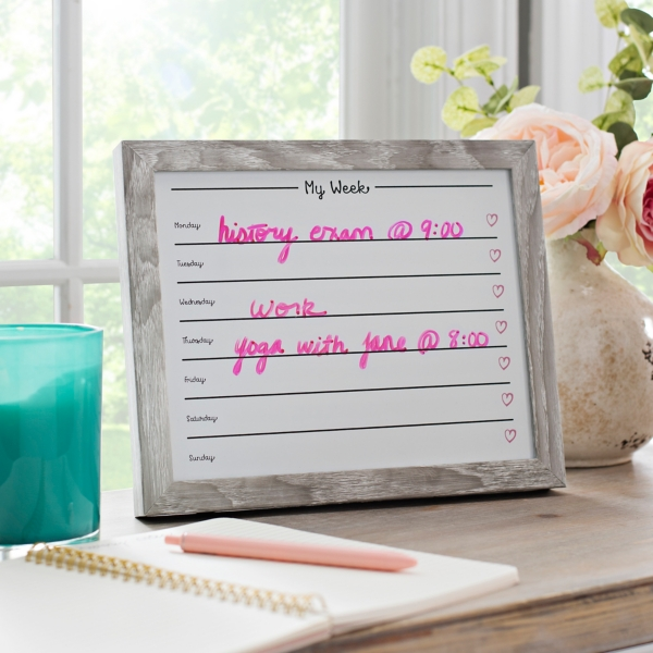 Decorative Accessories - Natural My Week Dry Erase Board