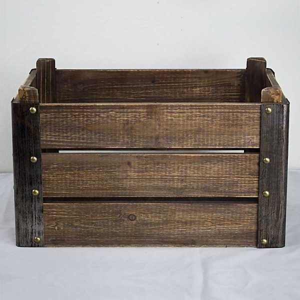 Baskets & Boxes - Rustic Wooden Storage Crate
