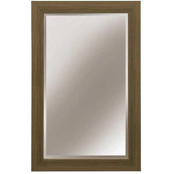Wall Mirrors - Natural Washed Wood Wall Mirror