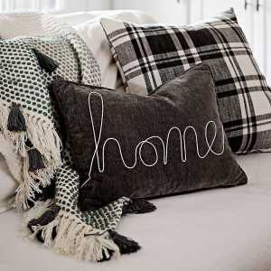 Throw Pillows - Gray Home Rope Velvet Accent Pillow