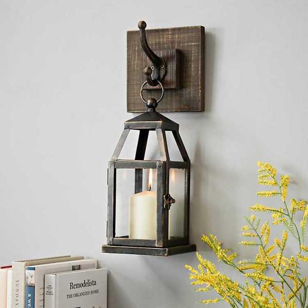 Wall Sconces - Hanging Lantern Metal Sconce