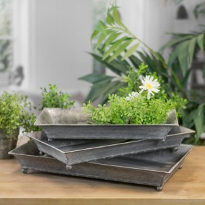 Decorative Trays - Rectangle Metal Trays