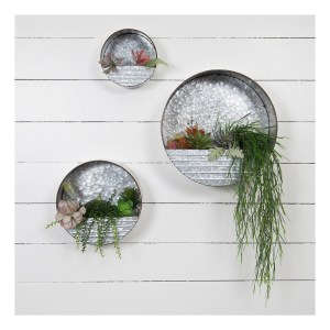 Round Metal Hanging Wall Pockets
