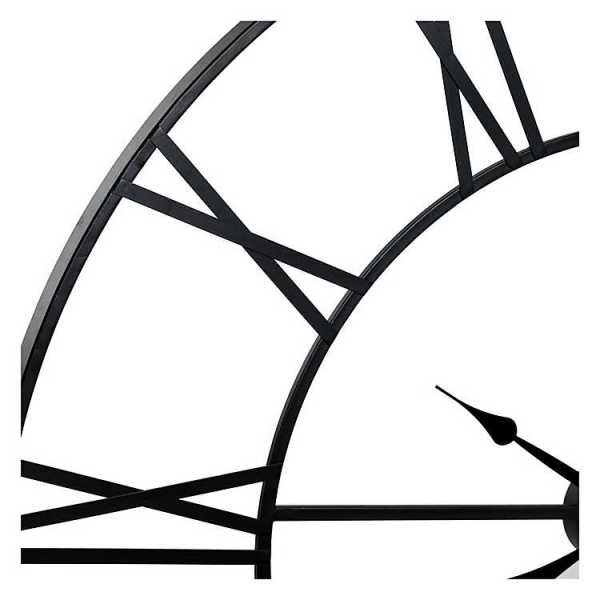 Wall Clock - Dark Matte Metal Cut-Out Roman Numeral Wall Clock