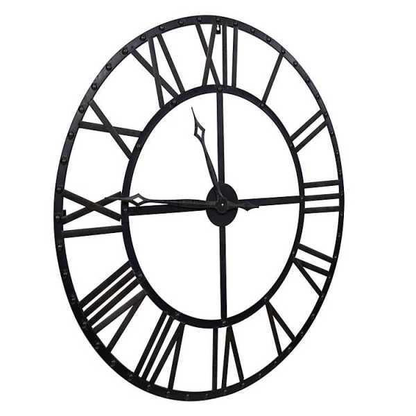 Wall Clock - Black and Bronze Metal Wall Clock
