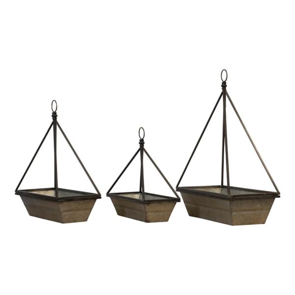 Planters - Galvanized Hanging Bucket Planters