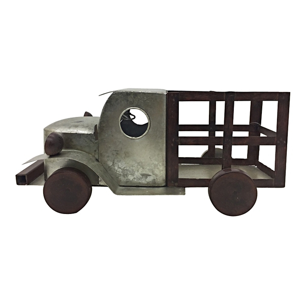 Statues & Figurines - Silver Metal Truck Figurine