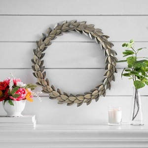Aged Metallic Metal Wreath