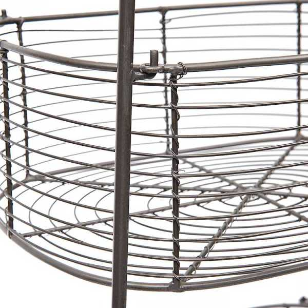 Baskets & Boxes - 3-Tier Wire Metal Basket Stand