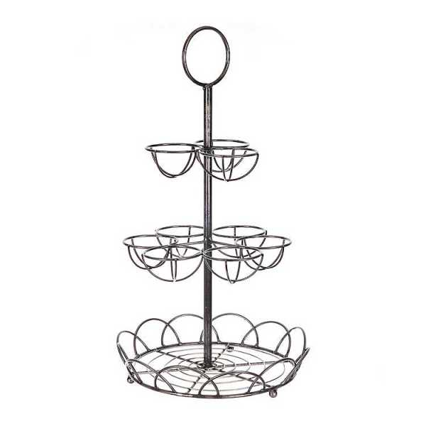 Fruit Bowls & Baskets - Silver Wire Coffee Pod Holder