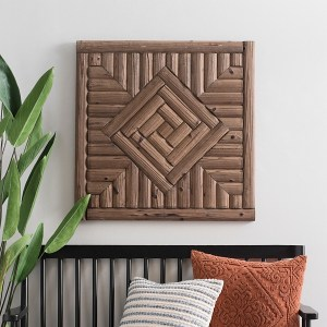 Geometric Wood Diagram Wall Decor