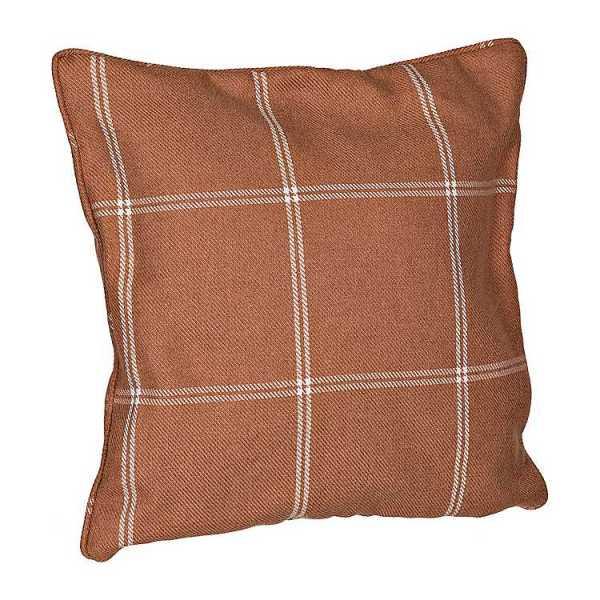 Throw Pillows - Rust Plaid Window Pane Pillow