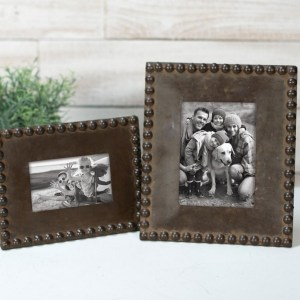 Picture Frames - Natural Beaded Picture Frame, 5x7