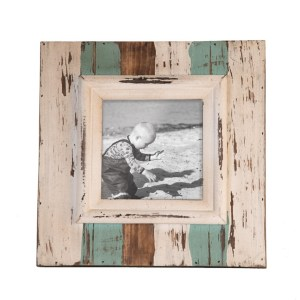 Picture Frames - Distressed Shoreline Picture Frame, 5x5