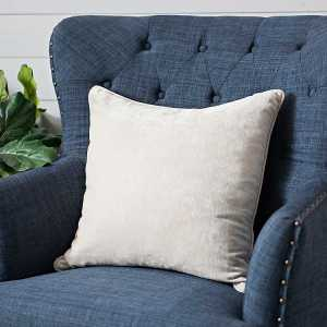 Throw Pillows - Ivory Velvet Pillow