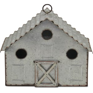 Garden Decor - Metal House Hanging Birdhouse