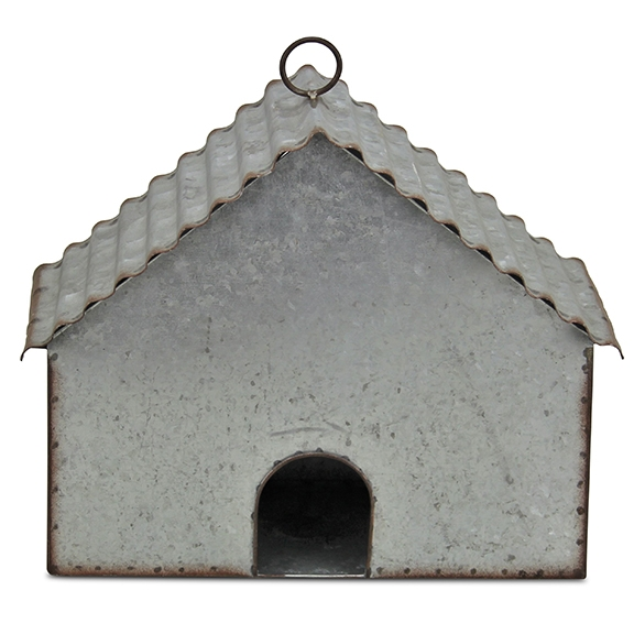 Garden Decor - Metal House Hanging Birdhouse