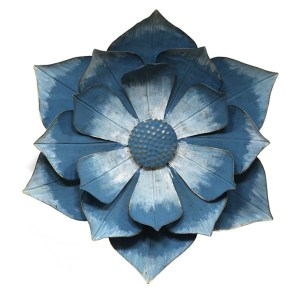 Ipomoea Blue Metal Flower Outdoor Wall Art