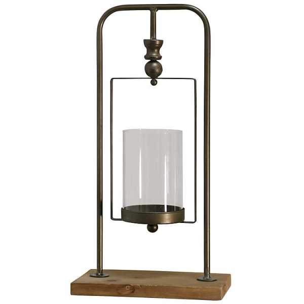 Candle Holders - Natural Gold Hanging Candle Holder, 16 in.