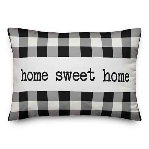 Throw Pillows - Black and White Home Sweet Home Pillow