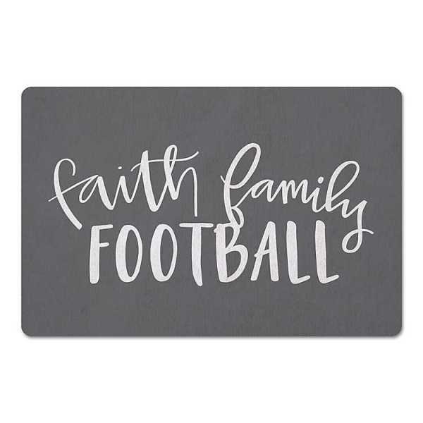 Kitchen Mats - Gray Faith Football Family Floor Mat