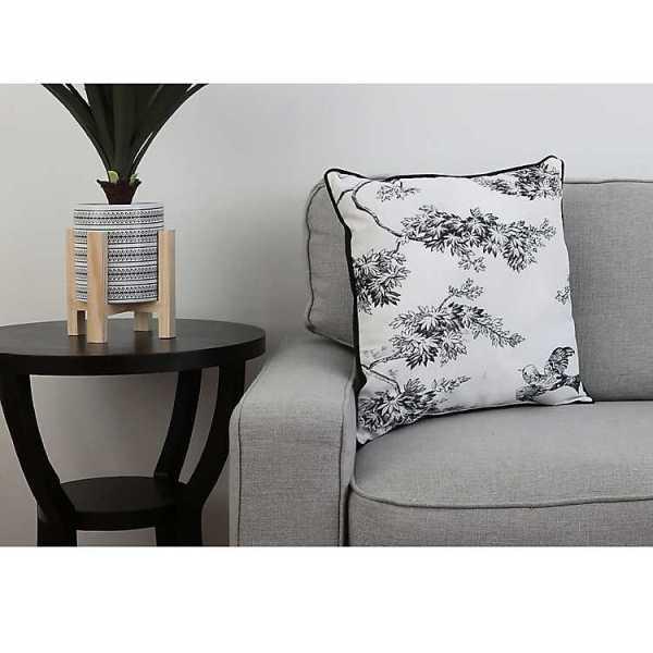 Throw Pillows - Black Toile Print Pillow