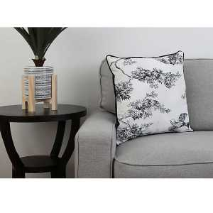 Throw Pillows - Black Toile Print Pillow