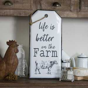 Life Is Better On The Farm Sign Metal Wall Art