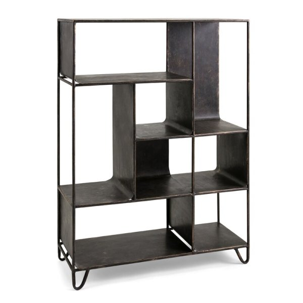 agathe-wholesale-contemporary-iron-style-standard-bookcase