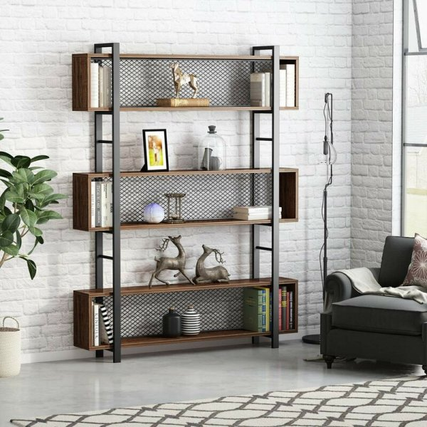 amber-sophisticated-and-stylish-6-tier-geometric-bookcase