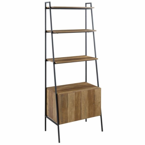 bobbie-rustic-style-ladder-bookcase-with-cabinet1