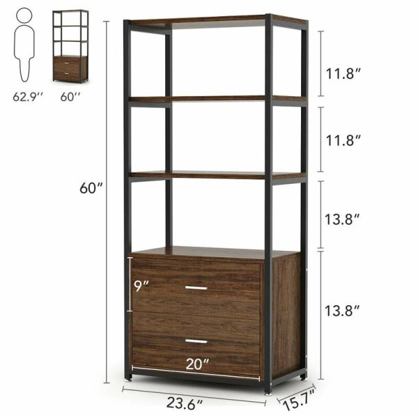 simone-4-tier-shelf-and-2-tier-drawers-standard-bookcase2