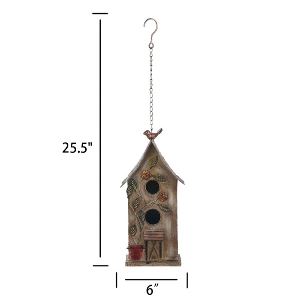 Outdoor Hanging Finch Birdhouses Dimensional Drawings