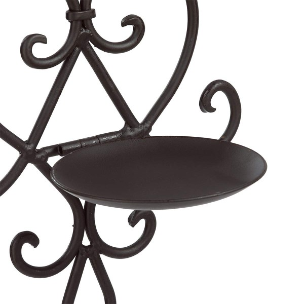 Black Wrought Iron Flower Candle Holders Partial details 1
