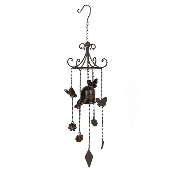 Antique Wind Chimes with Butterflies and Flowers