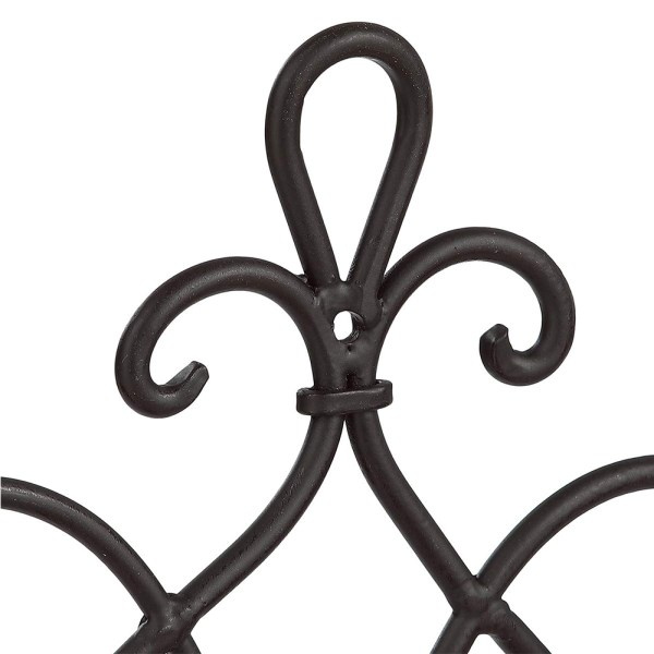 Black Wrought Iron Flower Candle Holders Partial details 2