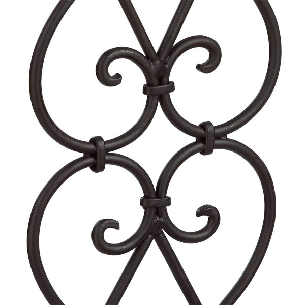 Black Wrought Iron Flower Candle Holders Partial details 3