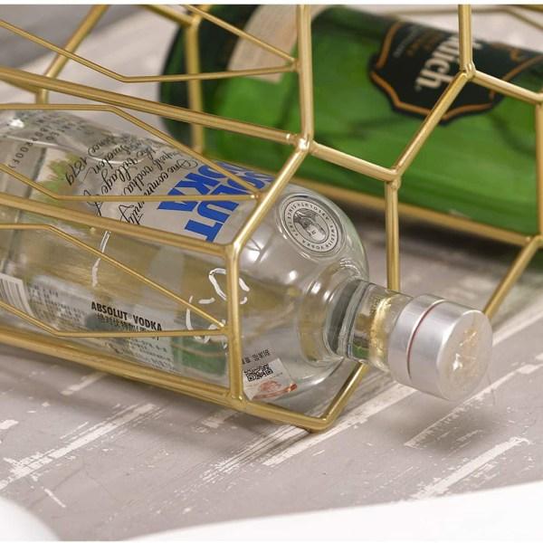 Golden Countertop Lattice Wine Rack Partial details 2