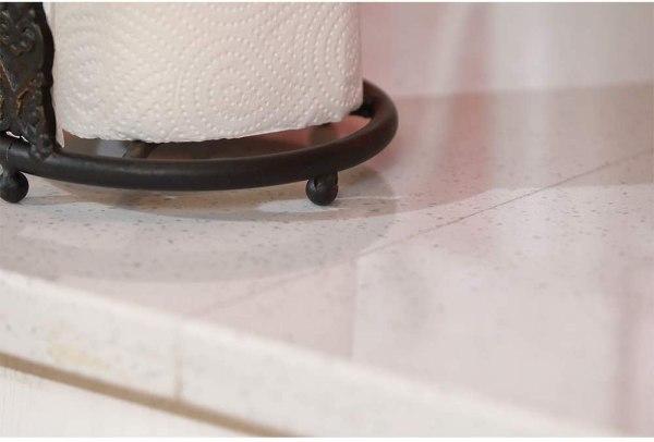 Kitchen Bronze Rustic Cross Paper Towel Holder Partial details 3