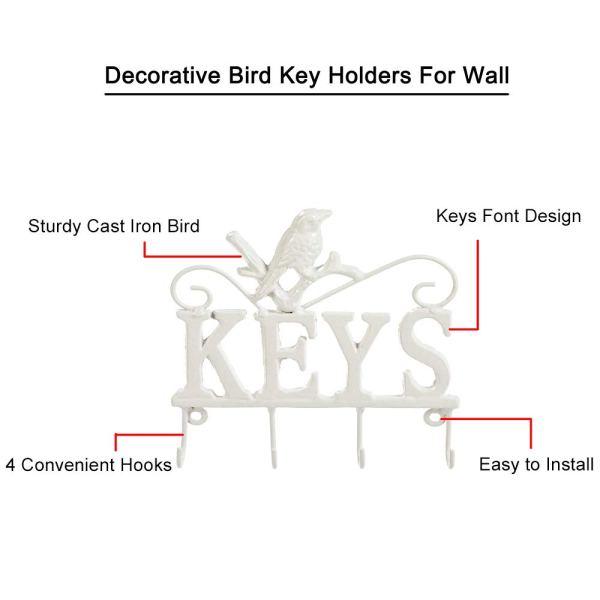 Modern White Animal Key Holder Introduction