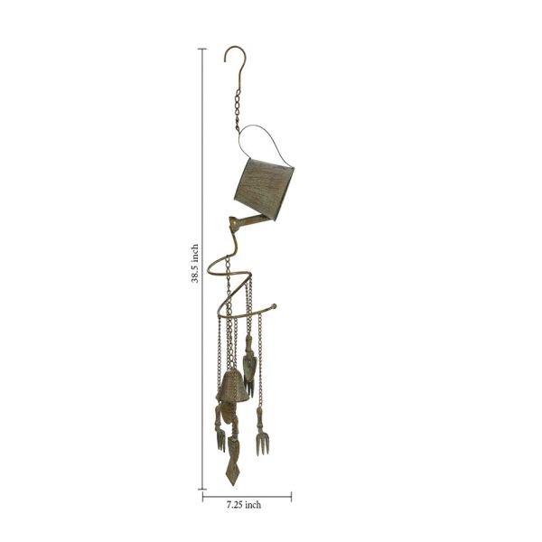 Outdoor Heavy-Duty Hanging Wind Chimes Dimensional Drawings
